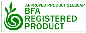 Approved Product 11620AP BFA Registered Product